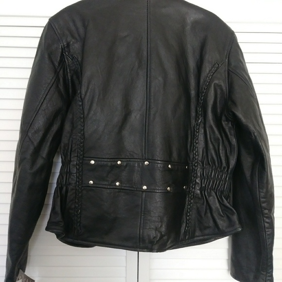 a90ce5f52 Black leather riding jacket. Brand new with tags